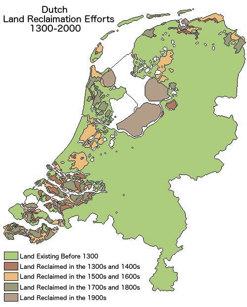 Land Reclamation In The Netherlands Vs Brilliant Maps - Netherlands map