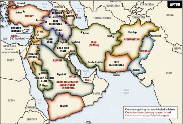 Kurdistan Karte 2018.Blood Borders A Proposal To Redraw A New Middle East