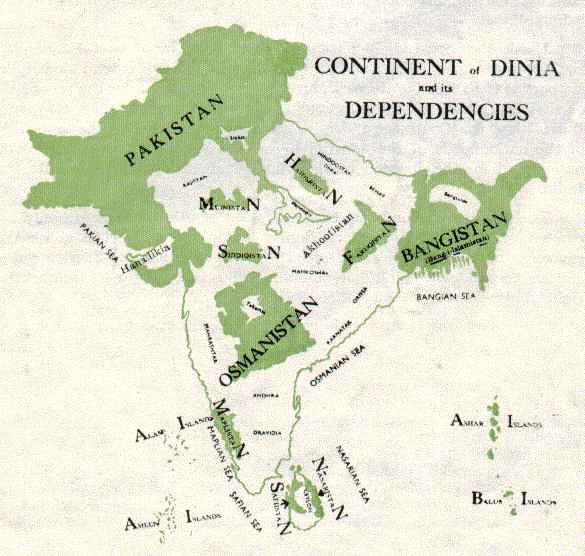 The First Proposed Map of Pakistan & The Partition of India ...