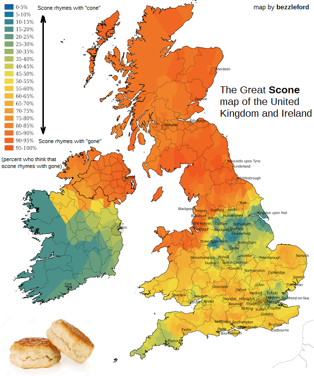 Scone Map of the UK and Ireland