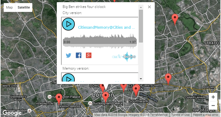 Listen To The World: Global Sound Map From Cities & Memory