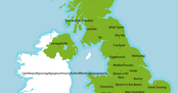 Weird, Silly, Odd & Rude Place Names In The UK – Brilliant Maps
