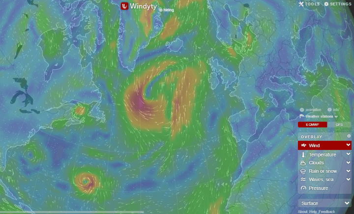Windyty Windycom Stunning Interactive World Wind Weather Map