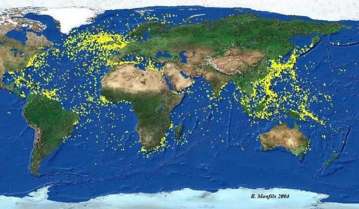 Map of World War 2 Shipwrecks