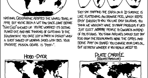 Map Projections & What They Say About You – Brilliant Maps